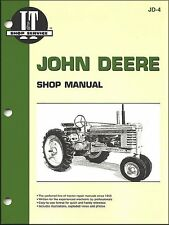 John Deere Tractor Repair Manual Series A, B, G, H Models D, M, MT JD-4