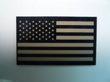 """FORWARD USA FLAG PATCH TAN+MB 3.5""""X2 1/8"""" REJECT#329 WITH VELCRO® BRAND FASTENER"""