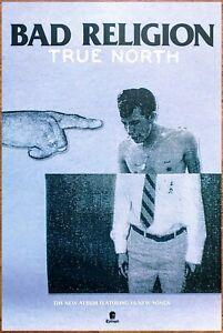 BAD RELIGION True North Ltd Ed Large RARE Tour Poster +BONUS Punk Rock Poster!