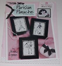 Paris Parisian Panache Cross Stitch Pattern Eiffel Tower France French Theme