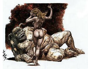 SEXY VAMPIRELLA DRUNNA GOOD GIRL GOTH HORROR MONSTER  FANTASY COMIC ART BURCHAM