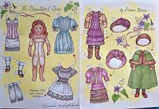 The Beautiful Bru Paper Doll, By Donna Miska 1991 Doll Reader Magazine