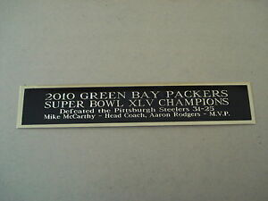 Green Bay Packers Super Bowl 45 Nameplate For A Football Jersey Case 1.5 X 6