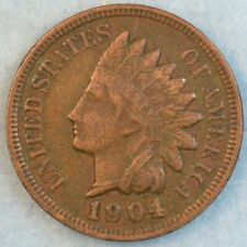 1904 Indian Head Cent Penny Liberty Very Nice Vintage Old Coin Fast S&H 78372