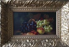 Old, Antique Still Life Oil Painting Of Mixed Fruit.  Monogrammed SO 1 Of 2