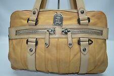 Lamb L.A.M.B. $595 Gwen Stefani Jethro Leather Satchel Purse In Tan