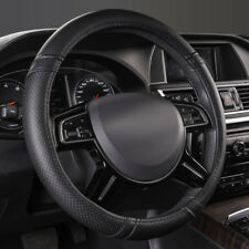 Universal Steering Wheel Covers Faux Leather Black Non-slip 37-39 cm For Truck