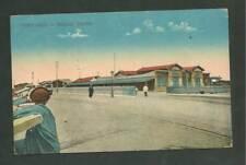 POST CARD PRE 1920 PORT SAID EGYPT RAILWAY STATION