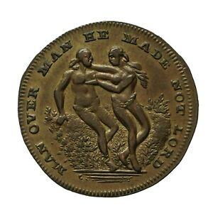 Middlesex Spence's Farthing Token  Adam & Eve / Man Riding Bull  D&H 1085