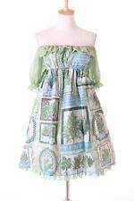 JSK-41 Green Forrest Forest Tree Chiffon Dress Lolita Cosplay Costume Kawaii
