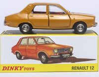 1/43 Atlas Dinky Toys 1424 RENAULT 12 Une Produetion Diecast Car Model Collector