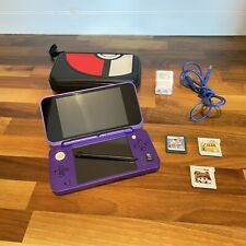 New Nintendo 2DS XL Bundle Pokémon Case 4GB SD Card Charger 3 Games Mario Zelda