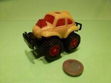 HONG KONG VW VOLKSWAGEN BEETLE - YELLOW L8.0cm - GOOD CONDITION - FRICTION