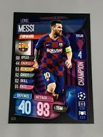 Lionel Messi 2019-20 Topps Match Attax Champions League Champion CC9 Barcelona