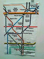 GESCHIRRTUCH - LONDON UNDERGROUND - MAP - TEA TOWEL