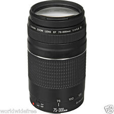 Genuine Canon EF 75-300mm f/4-5.6 III Lens f/EOS  Mark III MK 3 Free World Ship