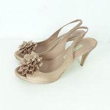 PURA LOPEZ Sandale Peep Toe Blume Raso 26 Natural Rosa Gr. EUR 39,5 (K15)