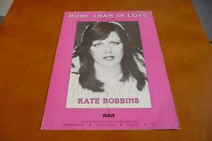 KATE ROBBINS MORE THAN IN LOVE ORIGINAL UK 1981   SHEET MUSIC