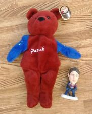 Patrick Roy Colorado Avalanche Beanie Bear & Mini Figure ~ NHL Hockey