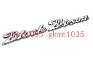 Chrome ABS Black Bison Emblem Wald Badge For Mercedes Benz Lexus BMW Ford Bently