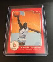 1985 Star Michael Jordan Rookie Portland Trailblazers Red ERROR Card #9