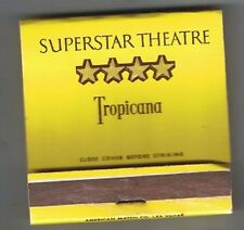 Tropicana Hotel Casino Superstar Theatre Front Striker Matchbook Las Vegas Nv