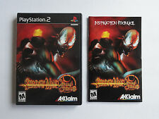 NO GAME- PS2 SHADDOW MAN 2ECOND COMING - CASE & MANUAL ONLY - NO GAME
