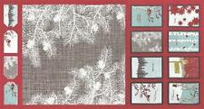 Winters Lane Holiday Panel Berry Christmas Fabric by Moda Gift Tags and Postcard