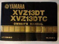 Motorcycle Owners Manual Yamaha XVZ13DT XVZ13DTC OEM Original LIT-116226-05-57