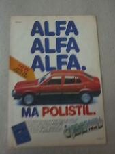 advertising pubblicita' ALFA ALFA ALFA 33 MA POLISTIL scala 1:25  -- 1984