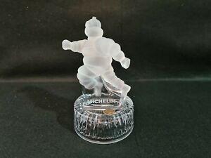 RARE Superbe bonhomme Michelin en cristal D'ARQUES  année 80  parfait état