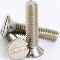 M3 3mm A2 STAINLESS SLOTTED COUNTERSUNK MACHINE SCREWS SLOT CSK SCREW DIN 963