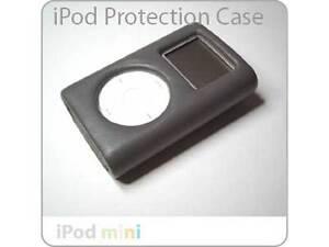 Mini iPod Click Wheel Deluxe HARD GREY LEATHER Case