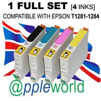 1 Voll Set Nicht-Oem Tintenpatronen Alternativen für Epson T1281-1284 T1285