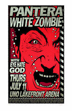 Pantera White Zombie 1996 Original Silkscreen Concert Poster Uncle Charlie S/N