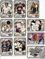 1992-93 UPPER DECK WAYNE GRETZKY HOCKEY HEROES SET w/ NNO RARE/UD/SP BV $50