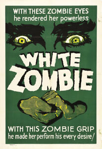 White Zombie Bela Lugosi #1 Horror movie poster print