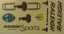 Raleigh Vintage Bicycle Stickers (Type 2)