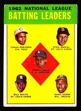 1963 TOPPS #1 TOMMY DAVIS/FRANK ROBINSON/STAN MUSIAL/B.WHITE/HANK AARON