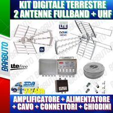 KIT ANTENNA DIGITALE TERRESTRE COMPLETO DI 2 ANTENNE VHF+UHF ED UHF GIA' DVB T2