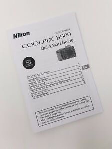 Nikon Coolpix B500 Instruction Owners Manual B500 Book NEW