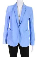 Seventy Womens Single Button Blazer Jacket Sky Blue Size EUR 44