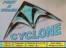 Cerf volant acrobatique Cyclone 180x90 cm grand cerf volant pas cher Neuf