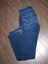 American Eagle Stretch Size 31x30 Womens Slim Boot Distressed Jeams