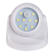 Light LED Battery Power Wall PIR Motion Sensor Outdoor Garden Yard Security Lamp