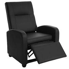 Fauteil de télé Denver Basic fauteuil de relaxation, similicuir ~ noir