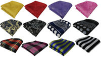 Hanky Paisley Polka Dot Plaid Check Silky Pocket Square Handkerchief ALL Colours