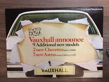 VAUXHALL 1980 RANGE SUPPLEMENT CAR BROCHURE. 2 NEW CHEVETTES & 7 NEW ASTRAS