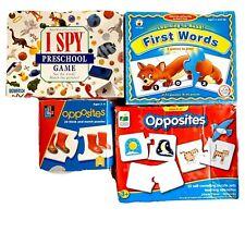 Preschool Kindergarten Homeschool Game Lot Matching I Spy First Words 4 Pieces