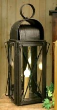 ELECTRIC FARMHOUSE LANTERN RUSTIC BLACK LANTERN WITH 6 WATT BULB
